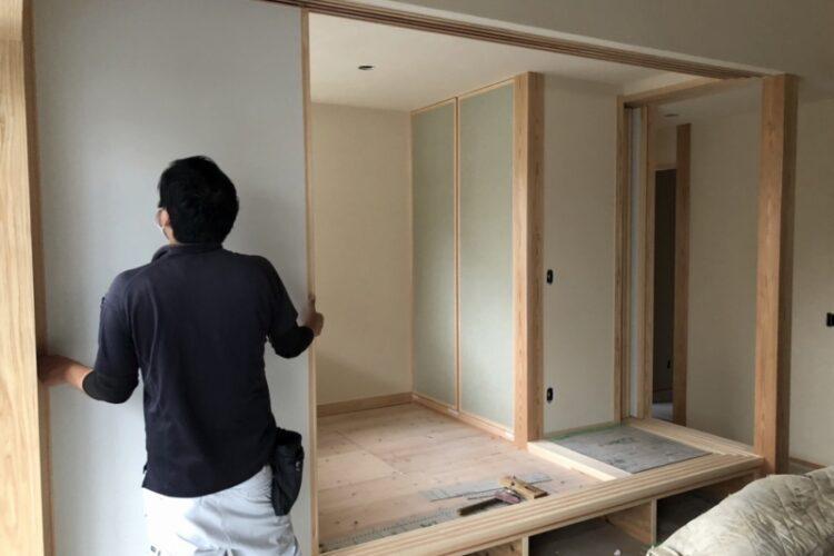 M様邸(下松市せせらぎ町)【木工事中】