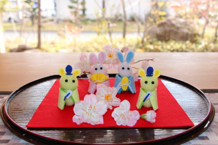 手作りひな飾りワークショップ@北九州展示場「香りの家」