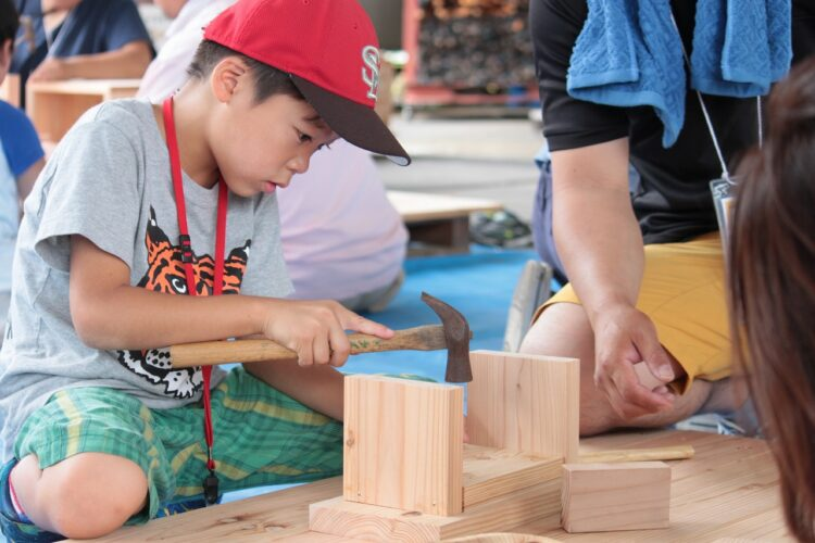 夏休み企画 木工作&工場見学ツアー(第2班)@下関市菊川町